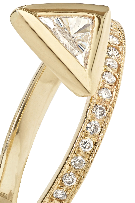 Jacquie Aiche 14-karat gold diamond ring