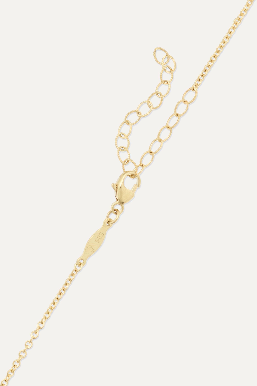 Jacquie Aiche Emily 14-karat gold diamond necklace