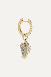 14-karat gold, diamond and labradorite earring