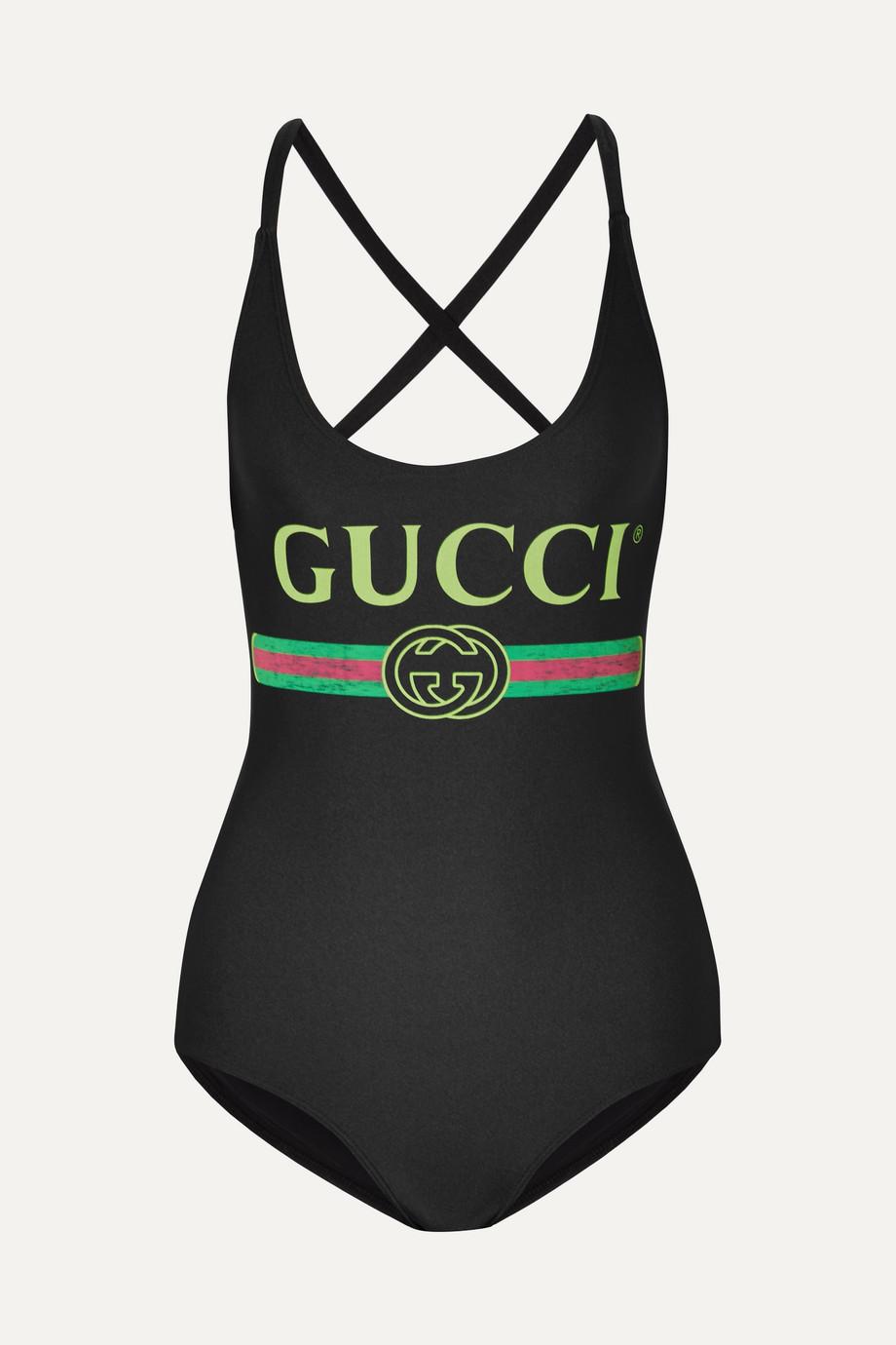 Gucci Body en tissu stretch imprimé