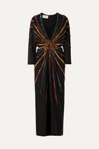 2d53841ec63 Gucci Embellished silk crepe de chine gown