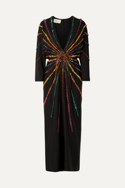 Gucci Embellished silk crepe de chine gown