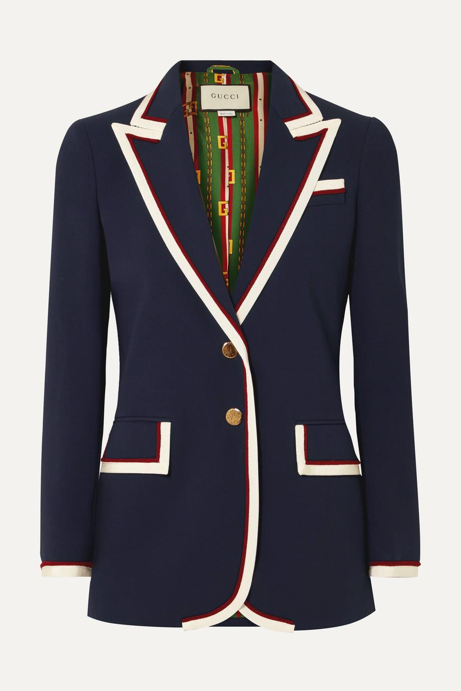 Gucci 罗缎边饰卡迪面料西装式外套