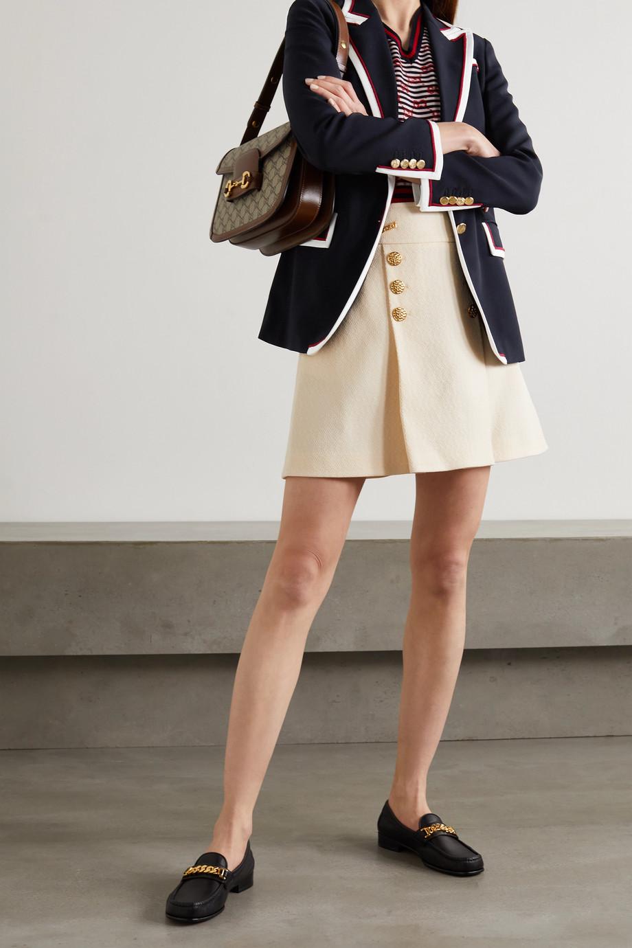 Gucci Grosgrain-trimmed cady blazer
