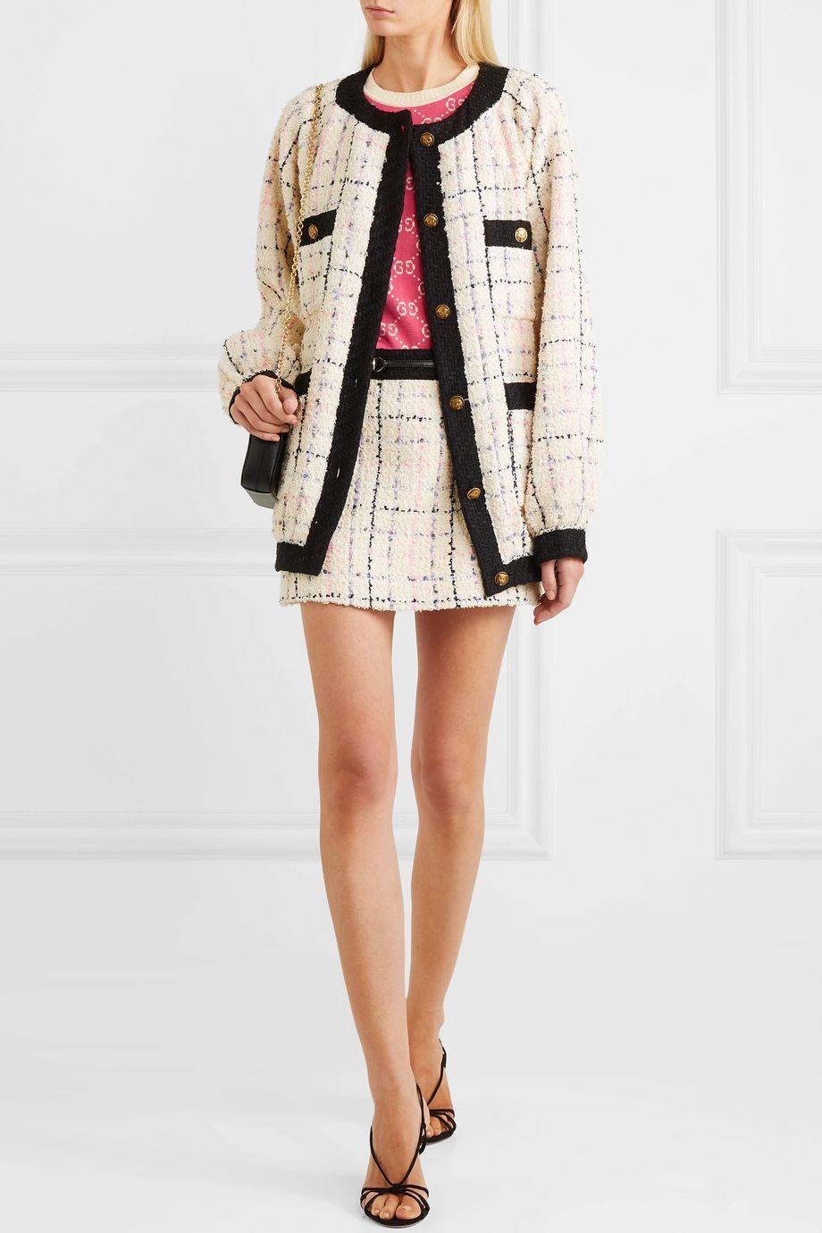 Gucci Cotton-blend bouclé-tweed bomber jacket