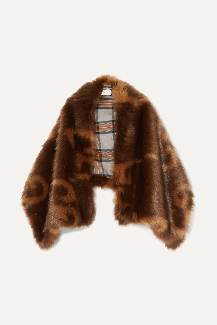 Gucci Faux fur stole