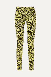 Gucci Tiger-print high-rise skinny jeans