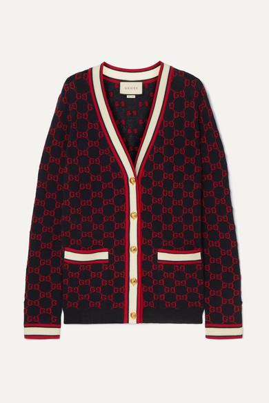 28a59d5c Wool-jacquard cardigan