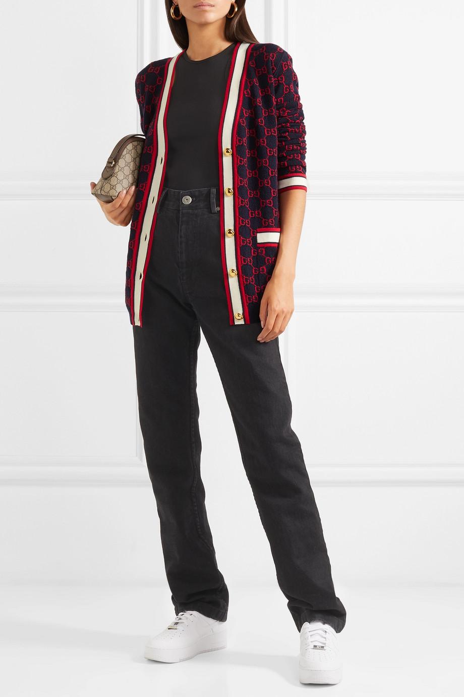 Gucci Wool-jacquard cardigan