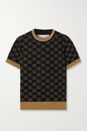 Gucci Metallic intarsia wool-blend sweater