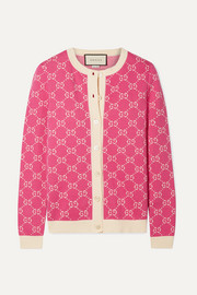 Gucci Cotton-jacquard cardigan