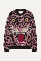 e1ca42ec6f31b Gucci Oversized metallic intarsia knitted sweater