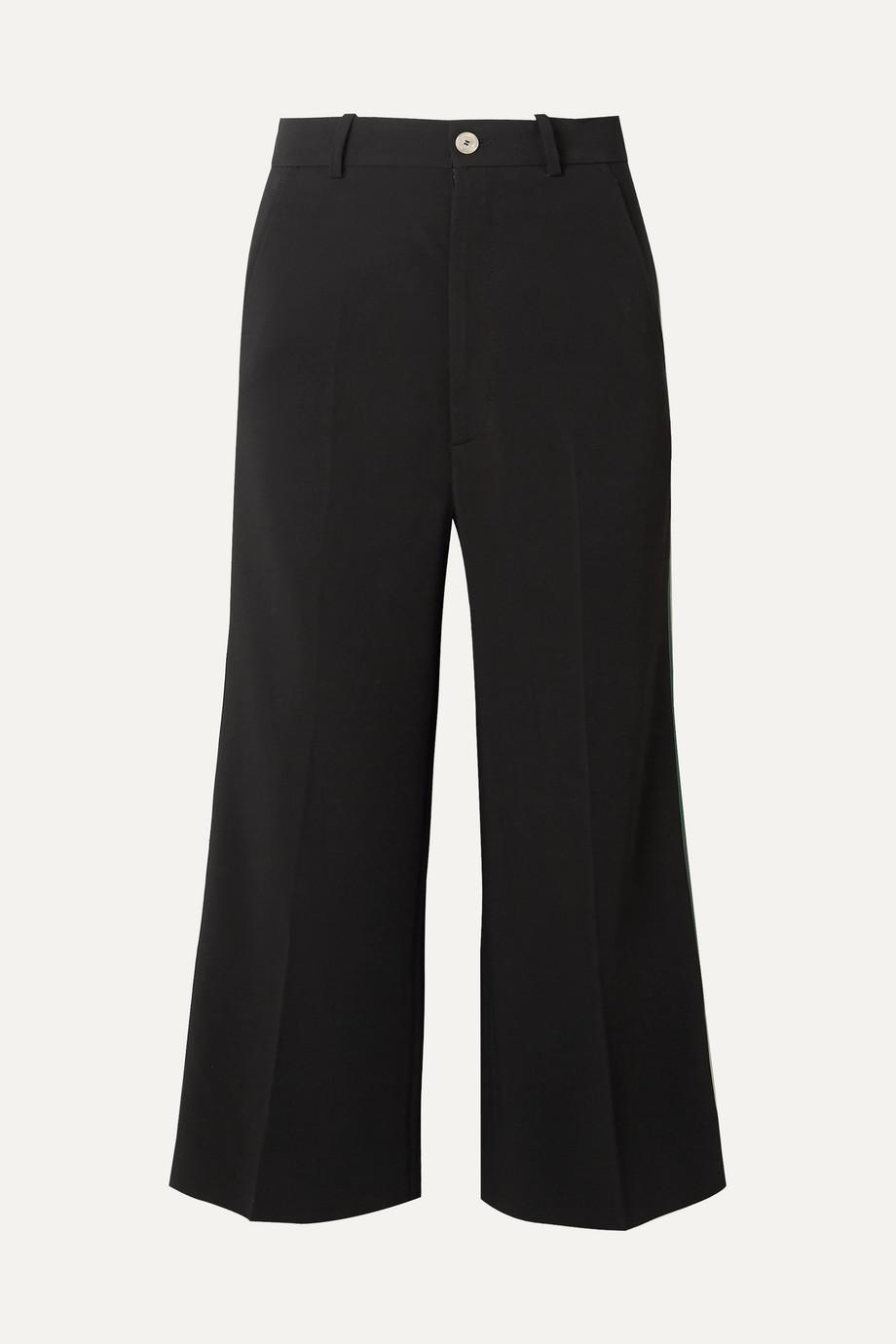 Gucci Striped cady wide-leg pants