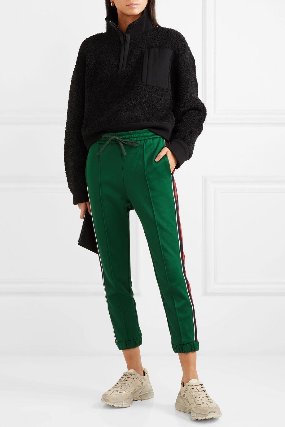 Gucci 条纹科技平纹布休闲裤