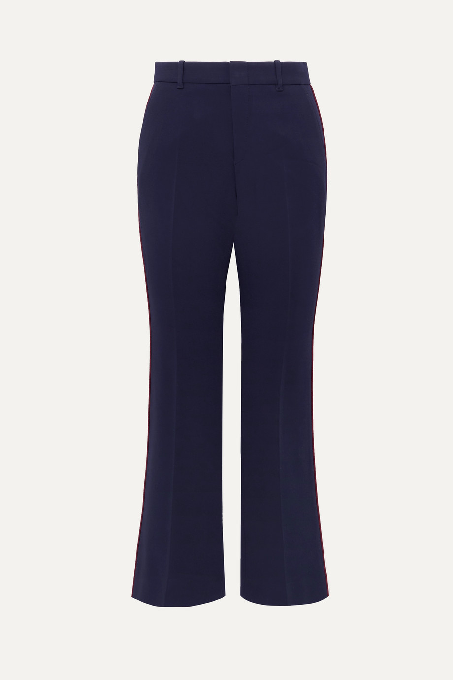 Gucci Grosgrain-trimmed cady wide-leg pants