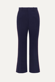 Gucci Grosgrain-trimmed cady wide-leg pants