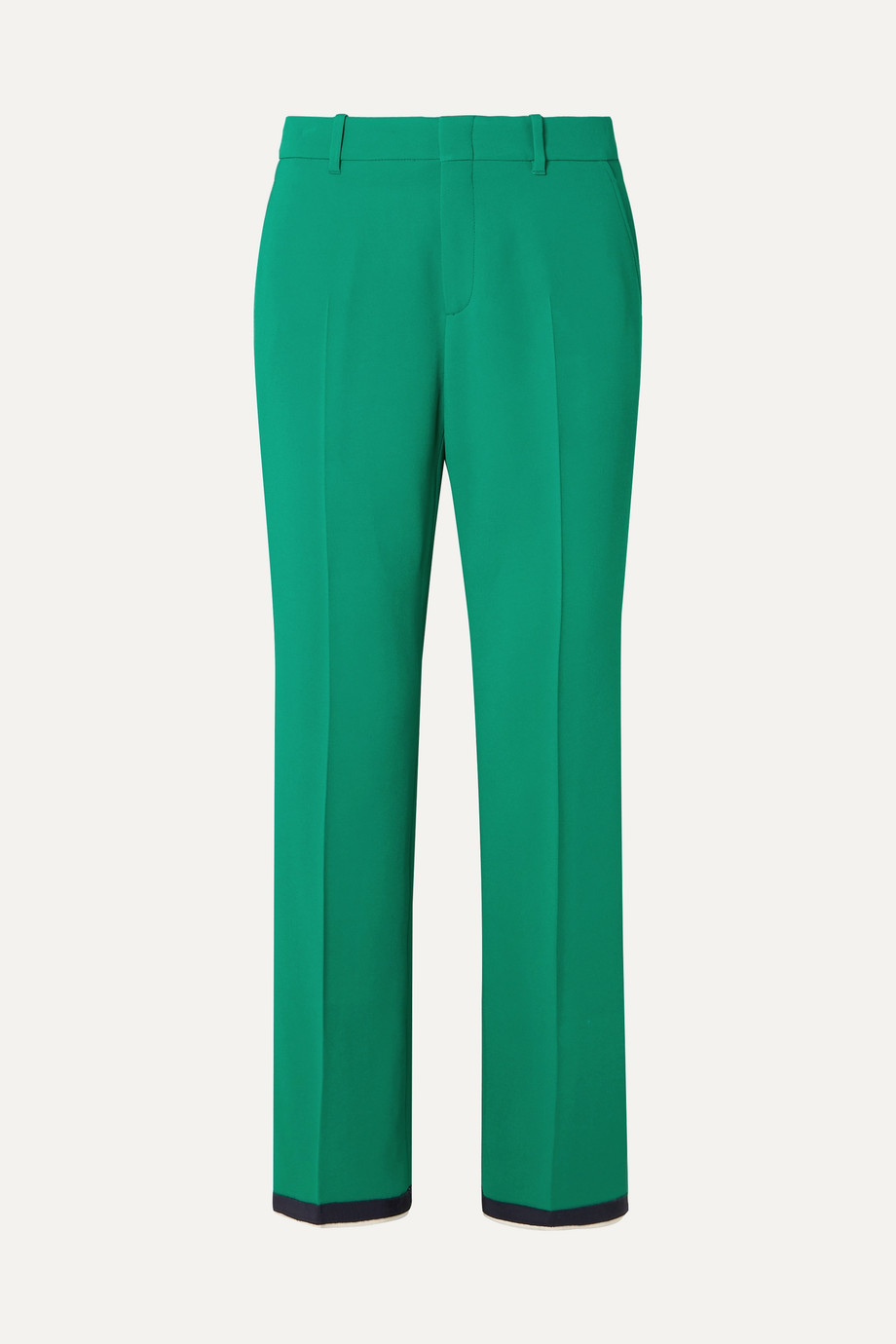 Gucci Grosgrain-trimmed stretch-cady bootcut pants