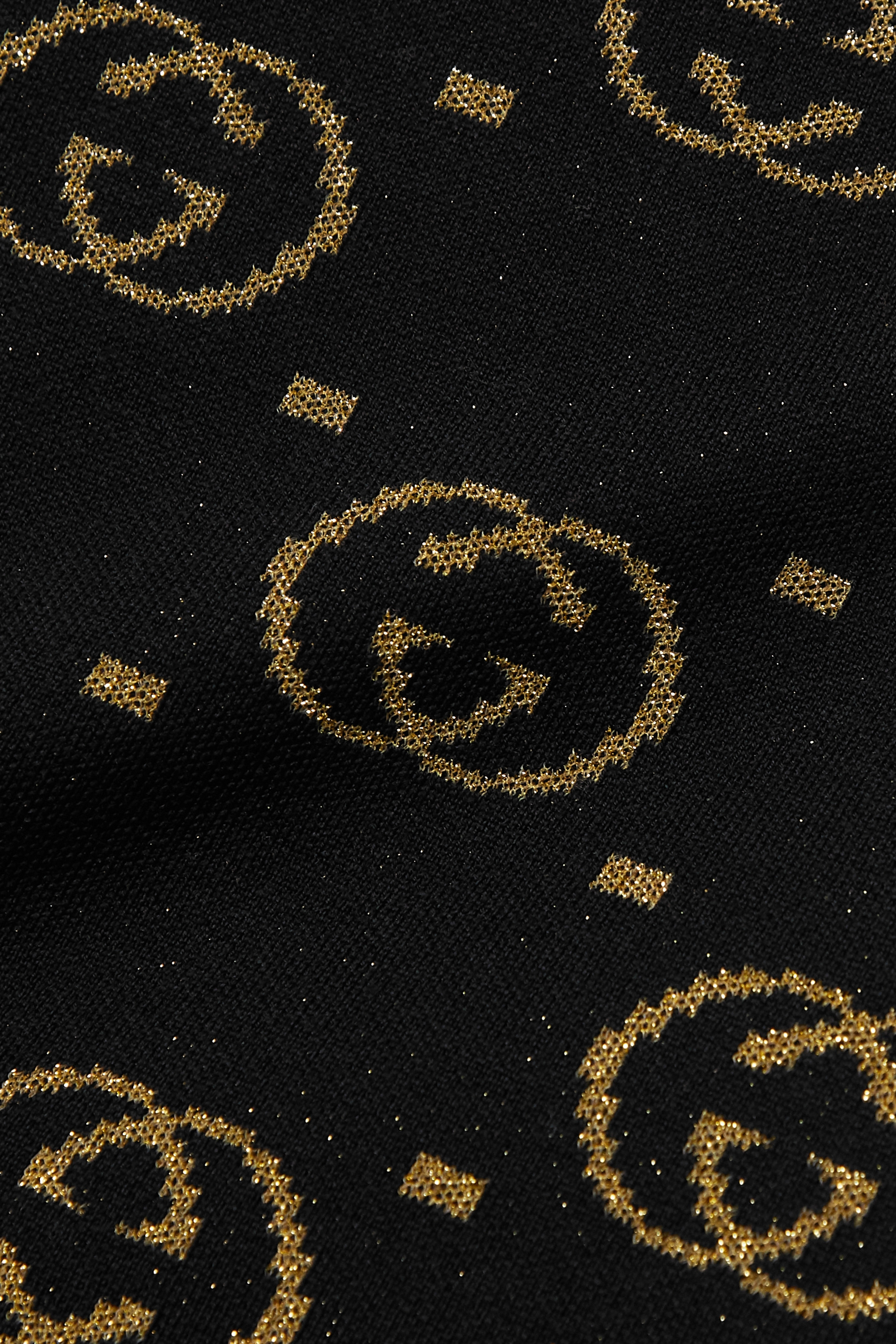 Gucci Jupe midi en laine mélangée métallisée intarsia