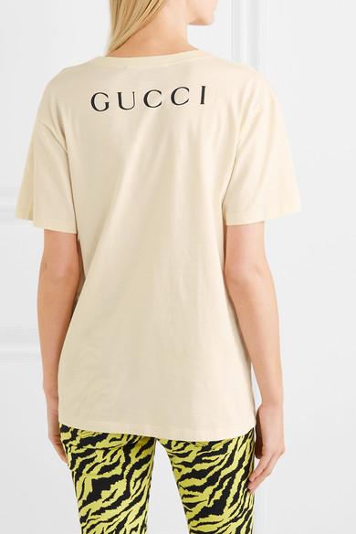 da502eb3c25 Gucci. + Billy Idol printed cotton-jersey T-shirt.  550. Play