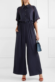 Clifford embroidered twill jumpsuit
