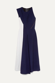 Felton two-tone crepe midi dress