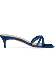 BY FAR Libra suede mules