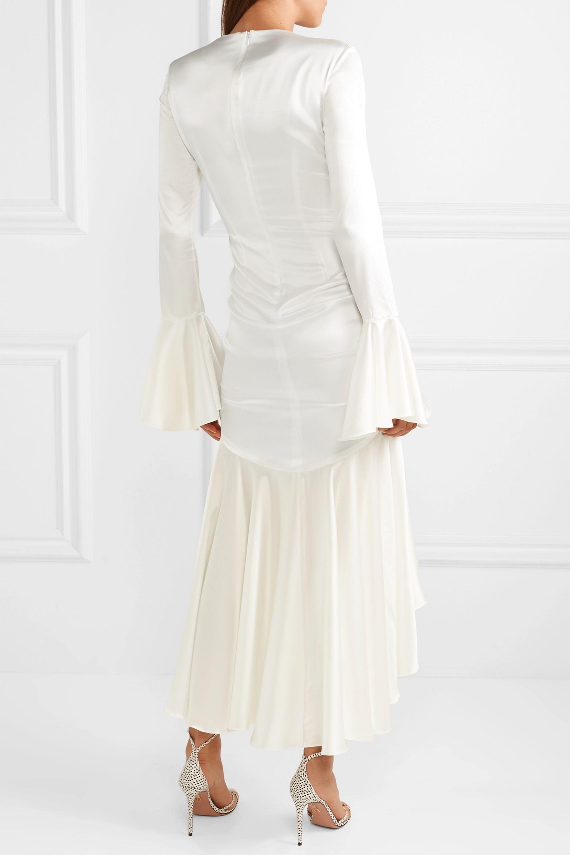 Caroline Constas Monique ruched stretch-silk satin gown