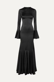 f8cd76904c8 Caroline Constas | Monique ruched stretch-silk satin gown | NET-A ...