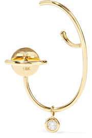Lily 18-karat gold diamond earring