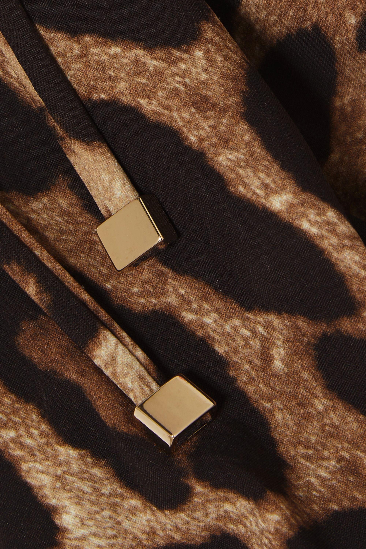 Dolce & Gabbana Leopard-print triangle bikini top