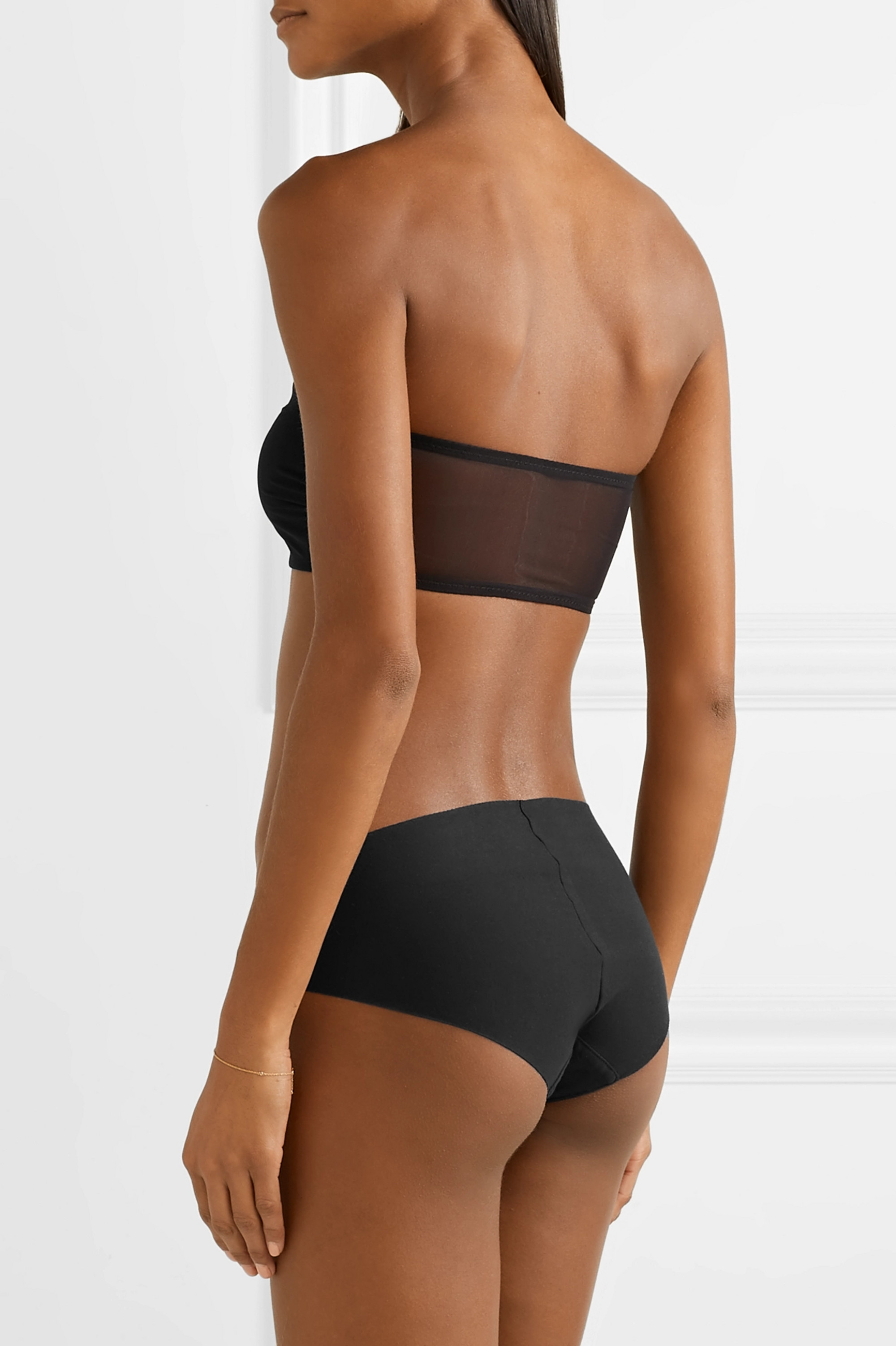 Commando Chic Mesh stretch soft-cup bandeau bra
