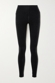 Commando Stretch-velvet leggings