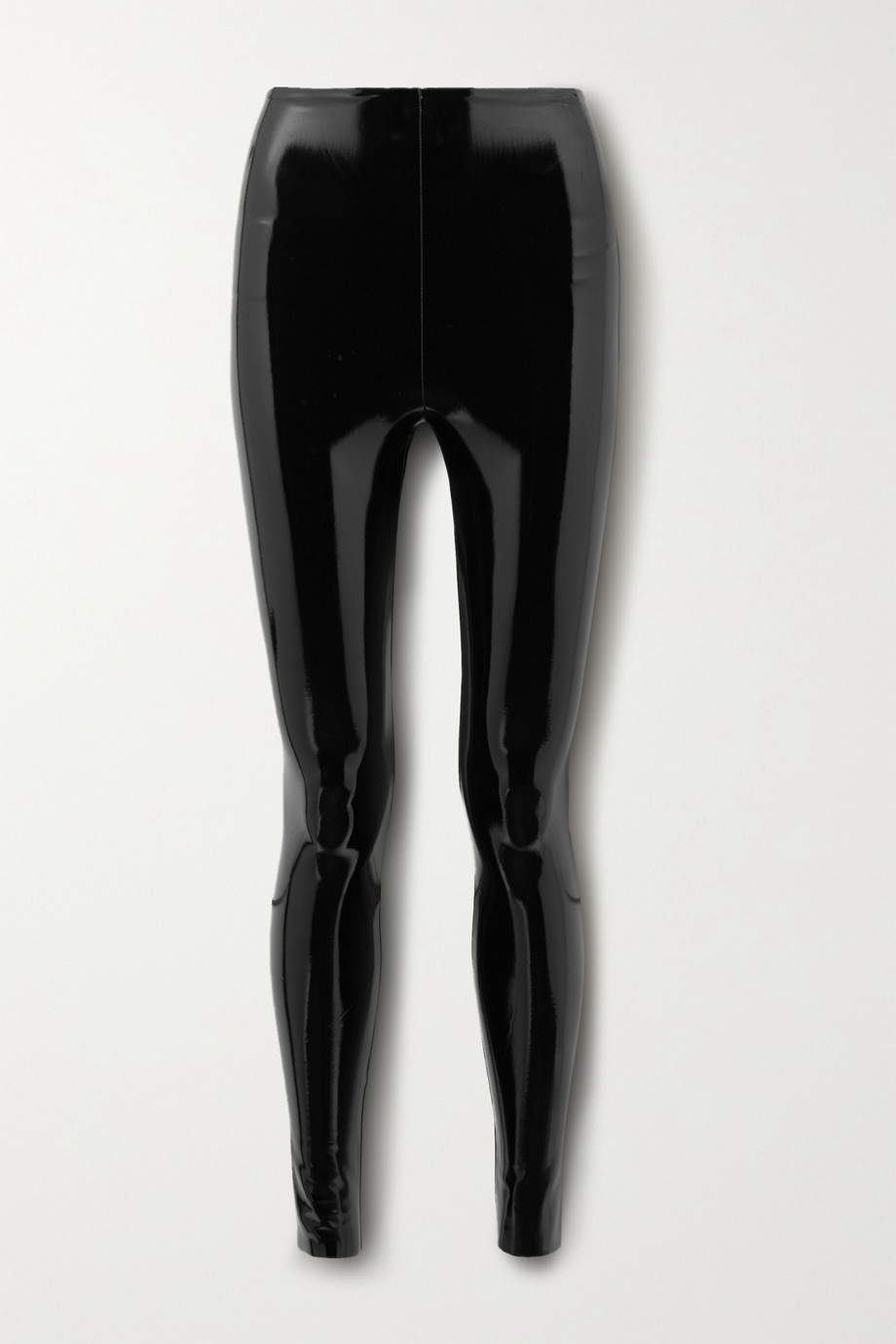 Commando Faux patent-leather leggings