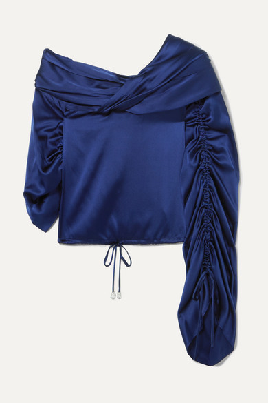 fd3869e762494e Hellessy   Sunshine draped asymmetric silk-charmeuse blouse    NET-A-PORTER.COM
