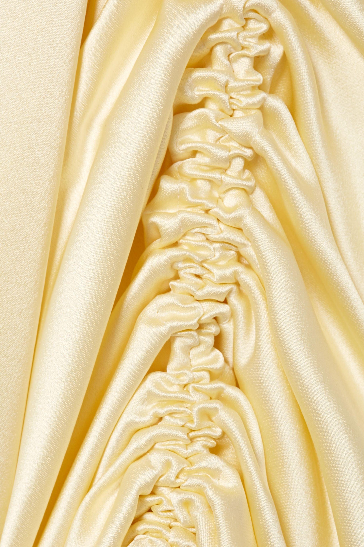 Hellessy Sunshine draped asymmetric silk-charmeuse blouse