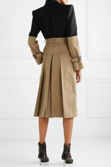 Alexander Mcqueen Coats Belted two-tone cotton coat