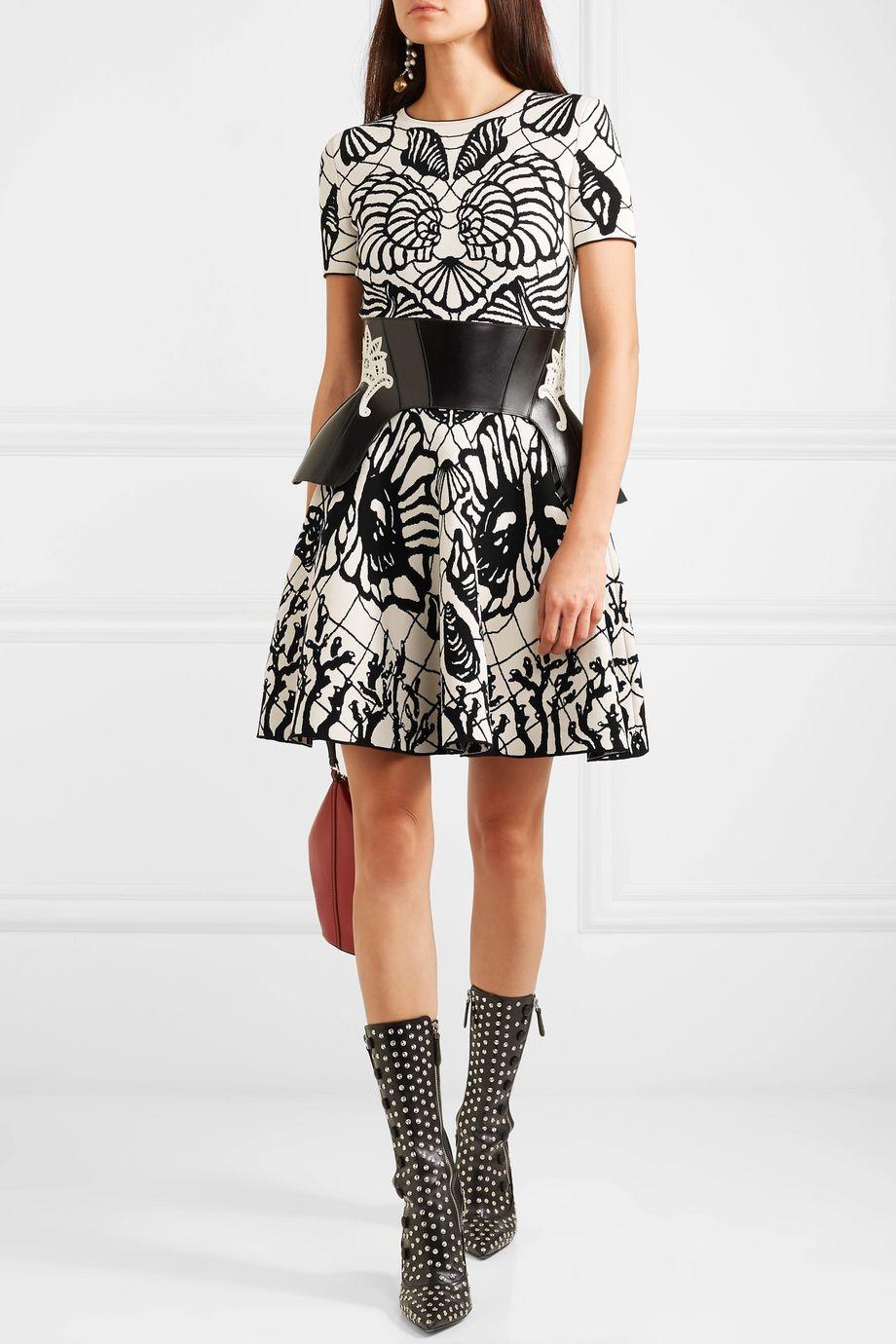 Alexander McQueen Jacquard-knit mini dress