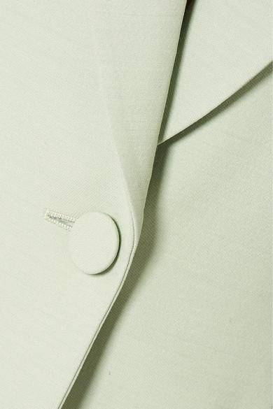 Alexander Mcqueen Blazers Wool-blend crepe blazer