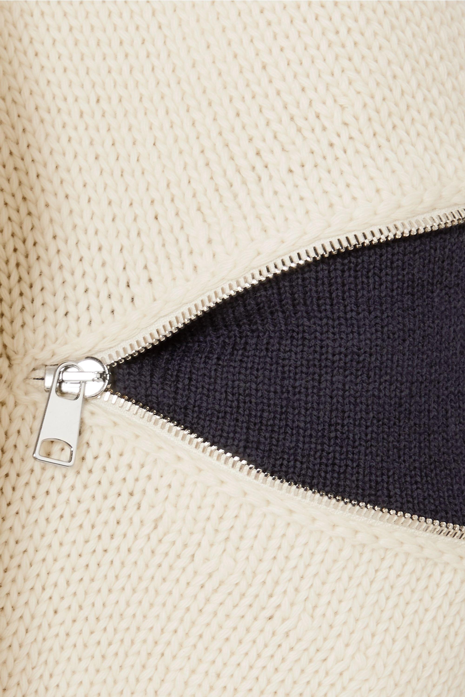 Alexander McQueen Zweifarbiger Wollpullover mit Reißverschlüssen