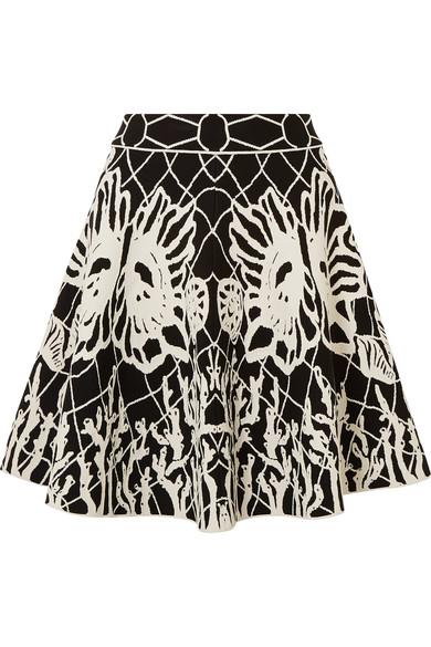 Alexander Mcqueen Knits Jacquard-knit mini skirt