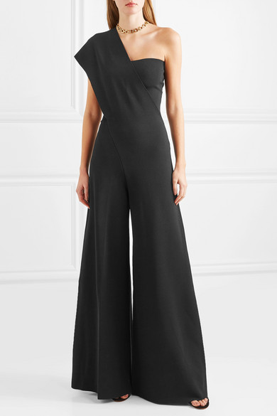 Stella Mccartney Suits One-shoulder ponte jumpsuit
