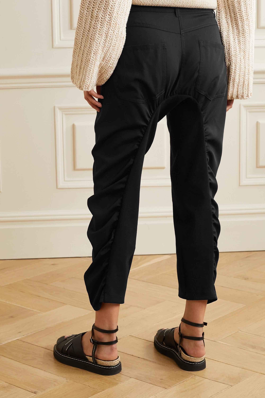 Stella McCartney Tina ruched wool-twill and cotton-blend pants