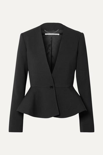 Stella Mccartney Blazers Wool-blend peplum blazer