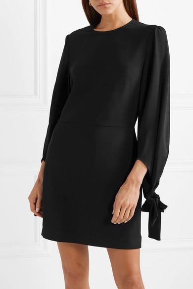 Stella Mccartney Dress Tie-detailed cady mini dress