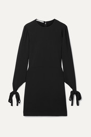Stella McCartney Tie-detailed cady mini dress
