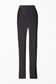 Stella McCartney Printed silk crepe de chine straight-leg pants