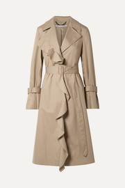 Stella McCartney Ruffled cotton-twill trench coat