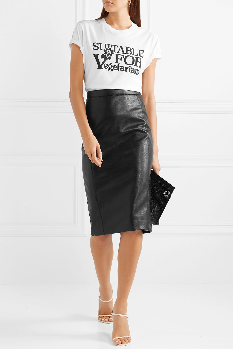 Stella McCartney Faux leather skirt