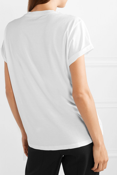 Stella Mccartney Shirts Printed cotton-jersey T-shirt