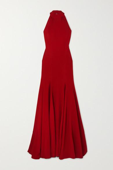 Stella Mccartney Dress Stretch-crepe halterneck gown